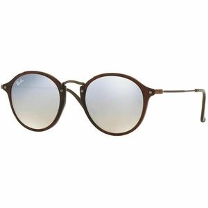 Ray-Ban Round Sunglasses Grey Flash Gradient Lens